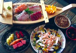 Menu sashimi